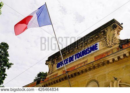 Montpellier , Ocitanie France  - 06 30 2021 : Office De Tourisme Facade In City French Tourism Offic