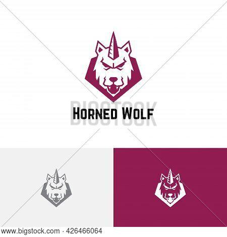Horned Wolf Wild Monster Shield Esport Game Logo