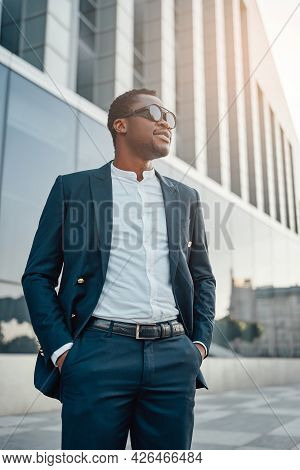 Cool Businessman Of African Descent With Sunglasses