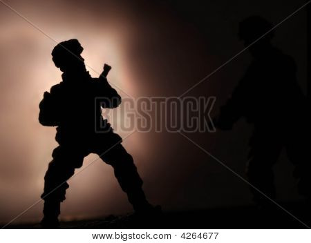 Lone Soldier At Night