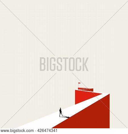Business Goal, Objective Vector Concept. Symbol Of Ambition, Motivation, Achievement. Minimal Illust