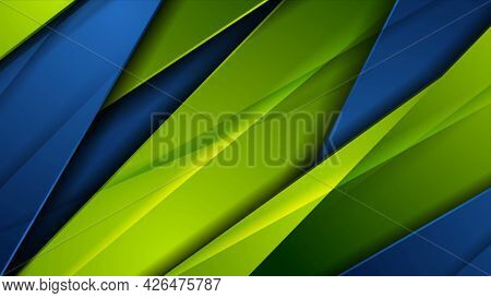 High contrast blue green abstract tech corporate background