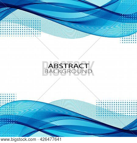 Smooth Abstract Border Wave Soft Dotted Background Modern Futuristic Cool Layout.