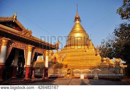 Maha Lawka Marazein Golden Stupa Of Lawkamanisula Pagoda Paya Temple Or Kuthodaw Inscription Shrine