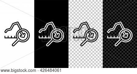 Set Line Global Economic Crisis Icon Isolated On Black And White, Transparent Background. World Fina