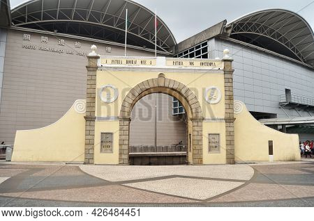 Border Gate Portas Do Cerco Area For Barrier Gate Separating Macau From Mainland China For Macanese