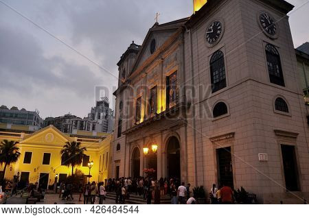 Cathedral Of The Nativity Of Our Lady For Macanese People And Foreign Travelers Travel Visit At Hist