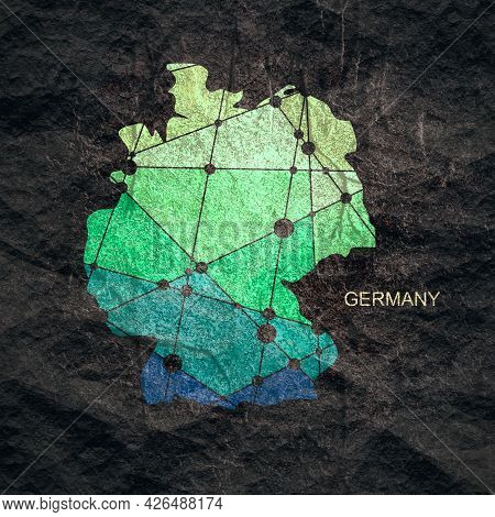 Map Of Germany. Concept Of Travel And Geography.