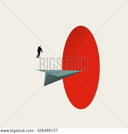 Business Future And Mission Vector Concept. Symbol Of Decision, Strategy, Success. Minimal Illustrat