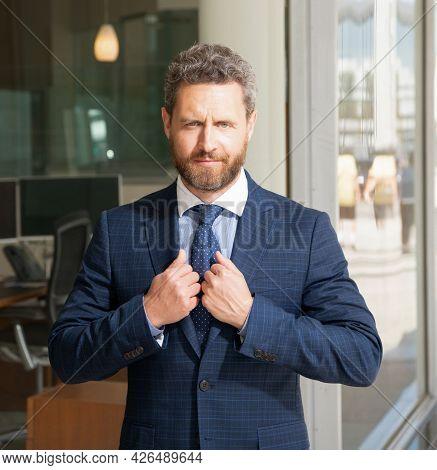 Entrepreneur. Male Formal Fashion. Professional Unshaven Ceo. Confident Businessman