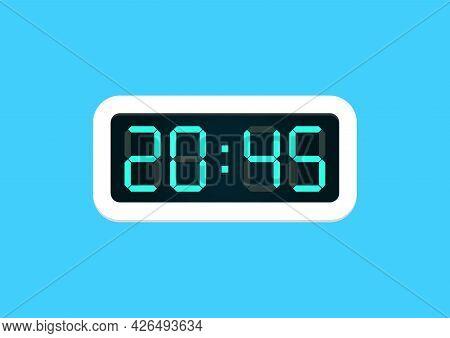 Digital Alarm Clock. Vector Illustration Graphic Design