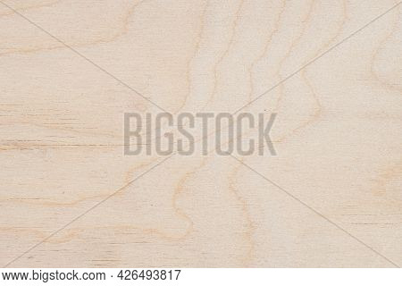 Texture Of Natural Light Wooden Wall With Crack Lines, Curves, Swirls. For Background