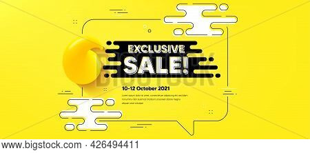 Exclusive Sale Text. Quote Chat Bubble Background. Special Offer Price Sign. Advertising Discounts S