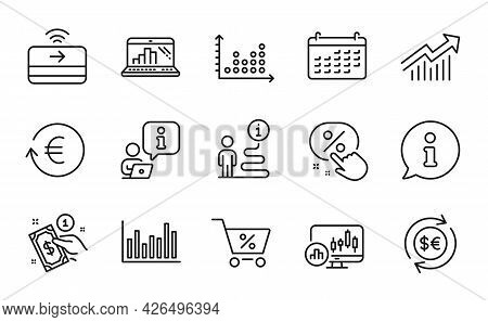 Finance Icons Set. Included Icon As Exchange Currency, Payment Method, Candlestick Chart Signs. Spec