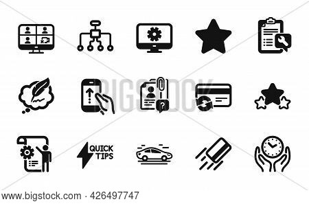 Vector Set Of Swipe Up, Settings Blueprint And Change Card Icons Simple Set. Copyright Chat, Credit