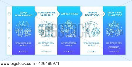 Fundraising Appeal Ideas Onboarding Vector Template. Responsive Mobile Website With Icons. Web Page