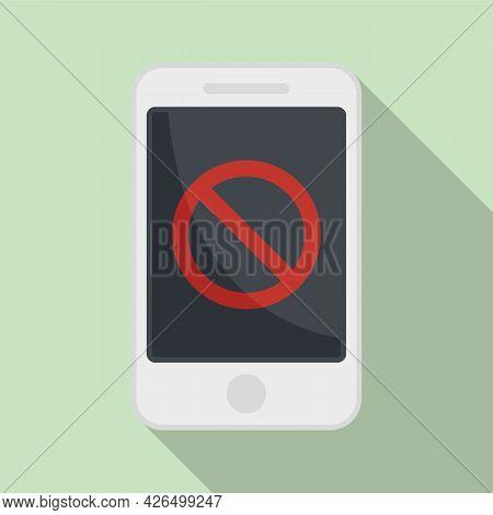Shutdown Phone Icon Flat Vector. Mobile Switch Off. Smartphone Shutdown