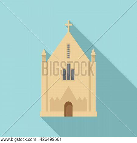 Irish Church Icon Flat Vector. Cross Ireland Church. Celtic Dublin Art