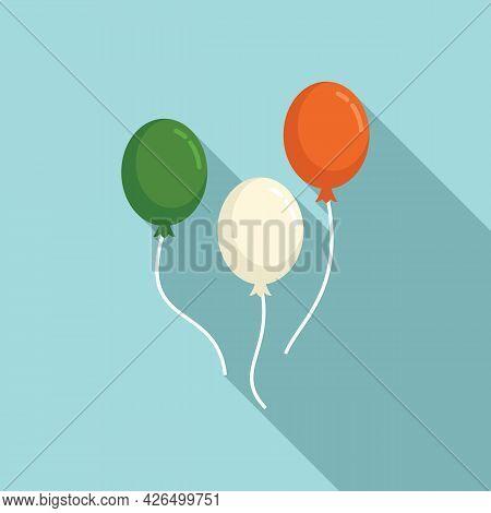 Ireland Balloons Icon Flat Vector. Green Irish Balloon. Lucky Balloons