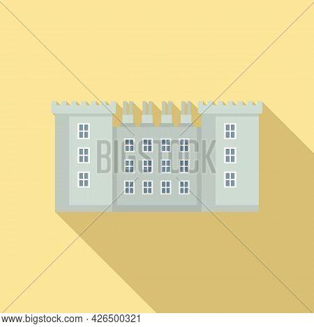 Dublin Street Building Icon Flat Vector. Ireland City Building. Cityscape Landmark