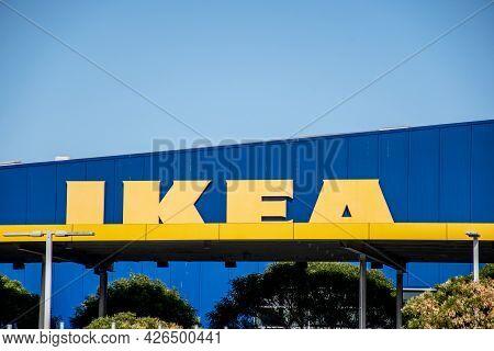 Sydney, Australia 2021-05-29 Ikea Tempe Store Sign In Sydney .