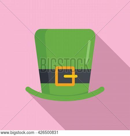 Leprechaun Hat Icon Flat Vector. Irish Patrick Day. Saint Top Hat