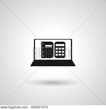 Accounting Software Sign. Online Accounting Isolated Simple Vector Icon