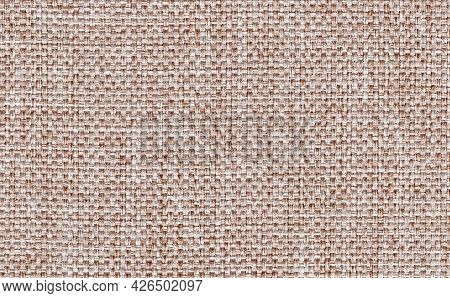 Closeup Dark Brown With White Color Fabric Sample Texture Backdrop.brown Fabric Strip Line Pattern D