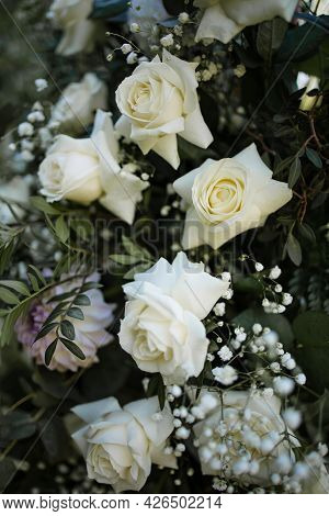 Beautiful Decor, White Roses, A Place To Write