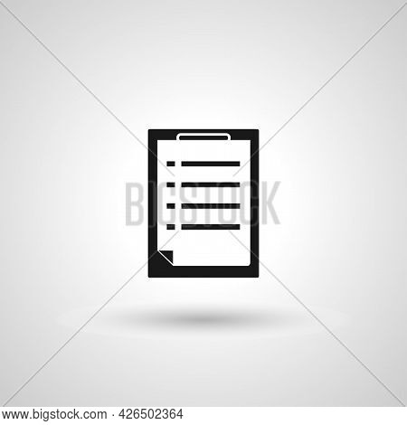 Clipboard Sign. Clipboard Isolated Simple Vector Icon