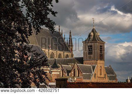 View From Leiden's Fortress On Hooglandse Church Tower, Leiden, Netherlands