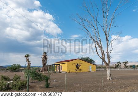 Prince Albert, South Africa - April 20, 2021: The Cowboys And Crooks Saloon In Prince Albert In The