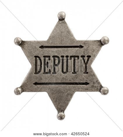 Deputy star badge poster