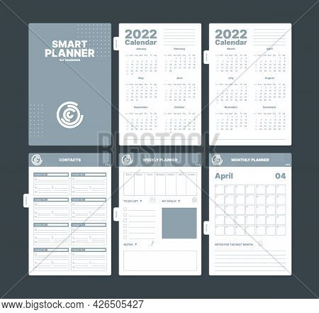 Organizer Pages. Business Planner Creative Scrapbook Pages Templates Date Tracker Month Reminder Goa