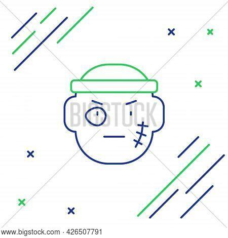 Line Bandit Icon Isolated On White Background. Colorful Outline Concept. Vector