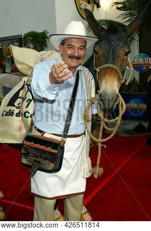 LOS ANGELES - MAY 14: Juan Valdez arrives to  'Bruce Almighty' World Premiere on May 14, 2003 in Hollywood, CA