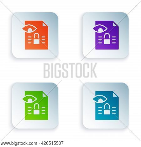 Color Journalistic Investigation Icon Isolated On White Background. Financial Crime, Tax Evasion, Mo