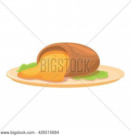 French Potato Icon Cartoon Vector. Vegetable Food. Sweet Yellow Potato
