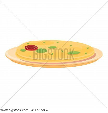 French Pizza Icon Cartoon Vector. Food Pizza. French Restaurant