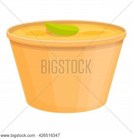 To Go Soup Icon Cartoon Vector. Day Food Snack, Dish Soup