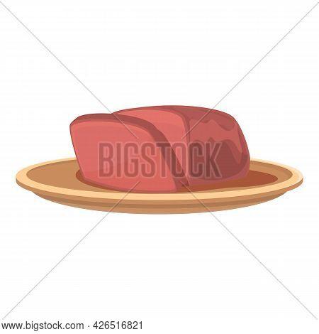 German Meat Icon Cartoon Vector. Sausage Delicatessen. Food Store Meat