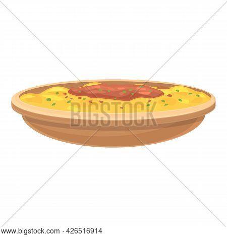 German Cuisine Icon Cartoon Vector. Pork Baumkuchen. Sauerkraut Vegetable