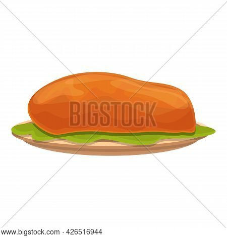 Cooked Meat Icon Cartoon Vector. Steak Food. Beaf Roast Cooked