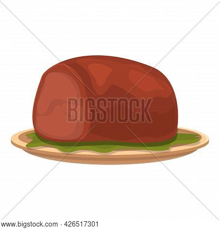 Meat Piece Icon Cartoon Vector. Steak Beef. Red Pork Fillet