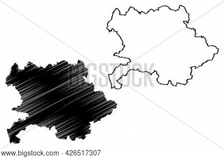 Giessen District (federal Republic Of Germany, Rural District Giessen Region, State Of Hessen, Hesse
