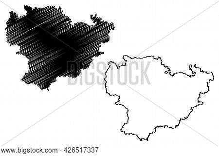 Goppingen District (federal Republic Of Germany, Rural District, Baden-wurttemberg State) Map Vector