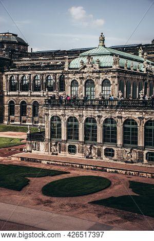 17 May 2019 Dresden, Germany -  The German Pavilion (deutscher Pavilion) Of Zwinger