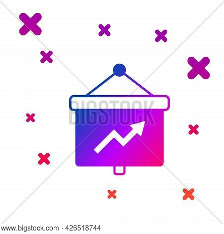Color Presentation Financial Business Board With Graph, Schedule, Chart, Diagram, Infographic, Pie G