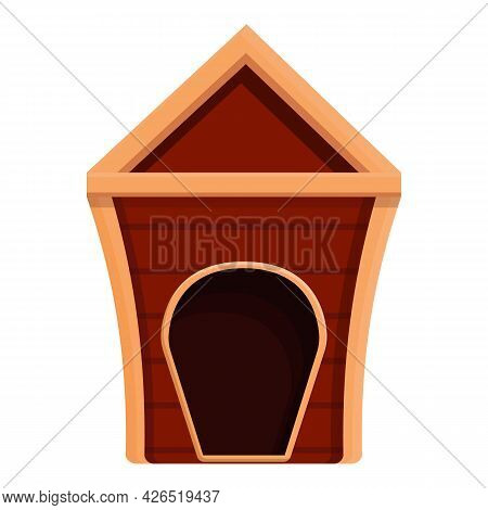 Nice Doghouse Icon Cartoon Vector. Puppy Dog Kennel. Pet House