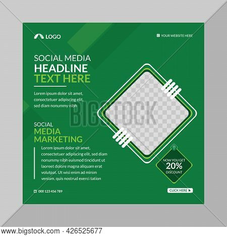 Creative Social Media Ads Post Design Template